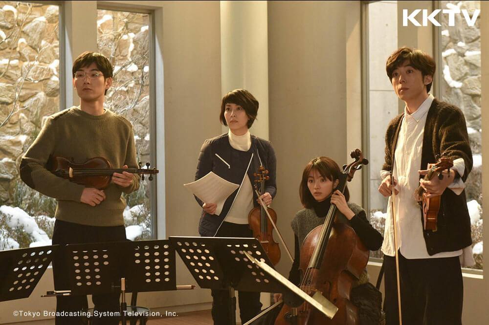 日劇《四重奏》由松田龍平、松隆子、滿島光、高橋一生主演。編劇為坂元裕二。